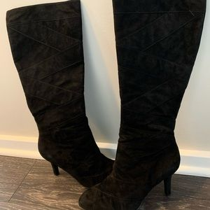 Taryn Rose black suede boots